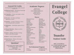 Evangel Brochure Design