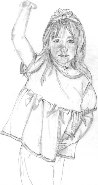 Sketch Little Ballerina: pencil