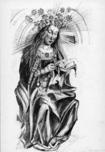 Drawing from Ghent Altarpiece by Van Eyck