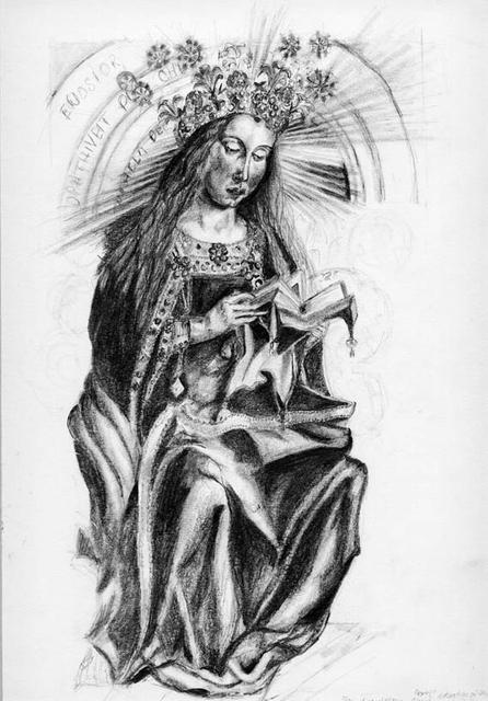 Drawing Ghent Altarpiece by Van Eyck