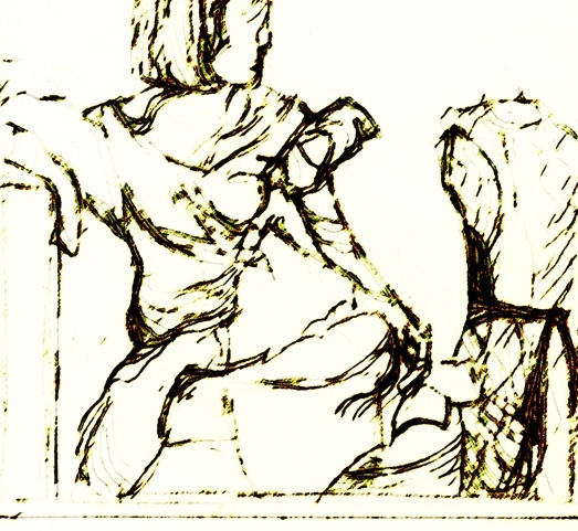 Girl Sketch Linear