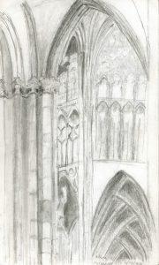 Sketch Interior Cologne Cathedral Germany