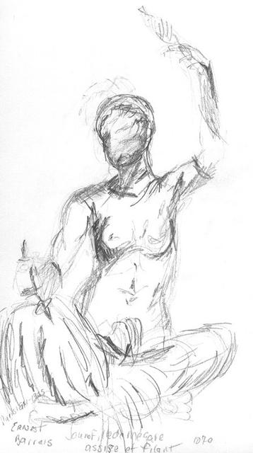 Sketch Jeune Fille de Megare Sculpture