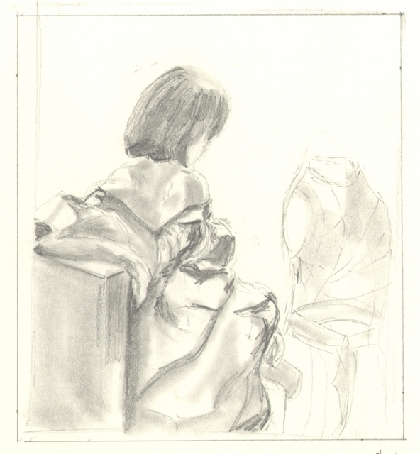 Girl Sketch Seated