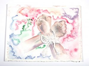 Watercolor Mixed Media Tied