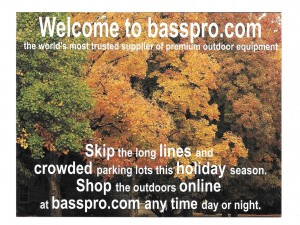 Bass Pro Shops Postcard Design