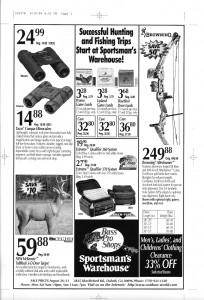 Sportsmans Warehouse Ad Design